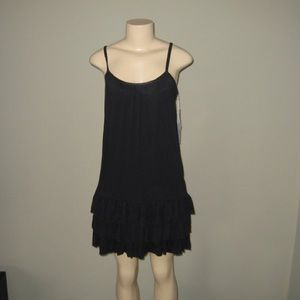 Kenzie black jersey ruffle dress